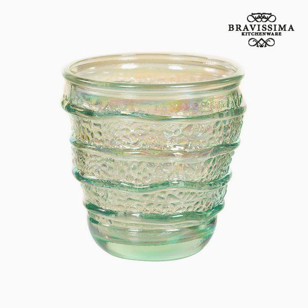 Recycled Glass Vase (9 x 9 x 9 cm) by Bravissima Kitchen