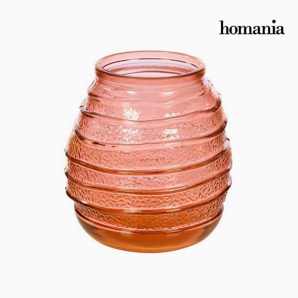 Vase made from recycled glass (18 x 18 x 19 cm) - Pure Crystal Deco Collection by Homania