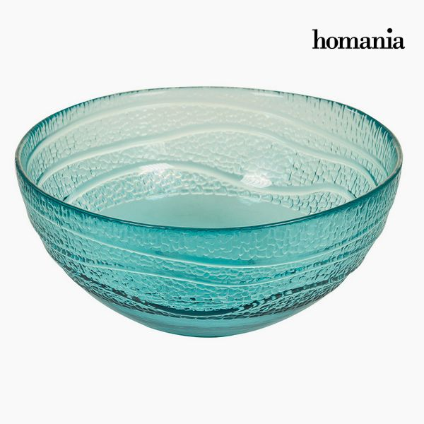 Recycled Glass Bowl Blue (Ø 18 cm) - Pure Crystal Deco Collection by Homania