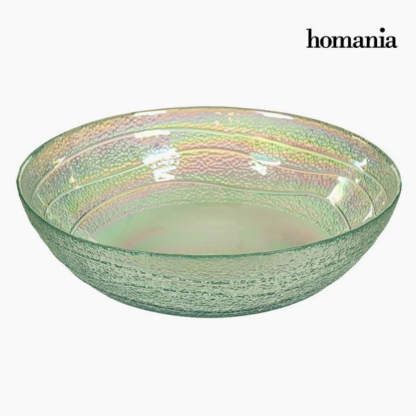Recycled Glass Bowl Transparent (Ø 18 cm) - Pure Crystal Deco Collection by Homania
