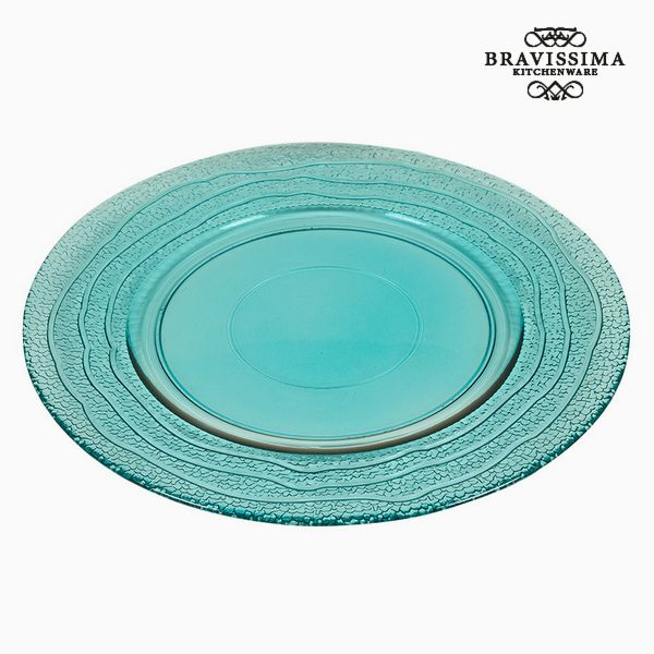 Recycled Glass Plate Turquoise (32 x 32 x 2  cm) by Bravissima Kitchen