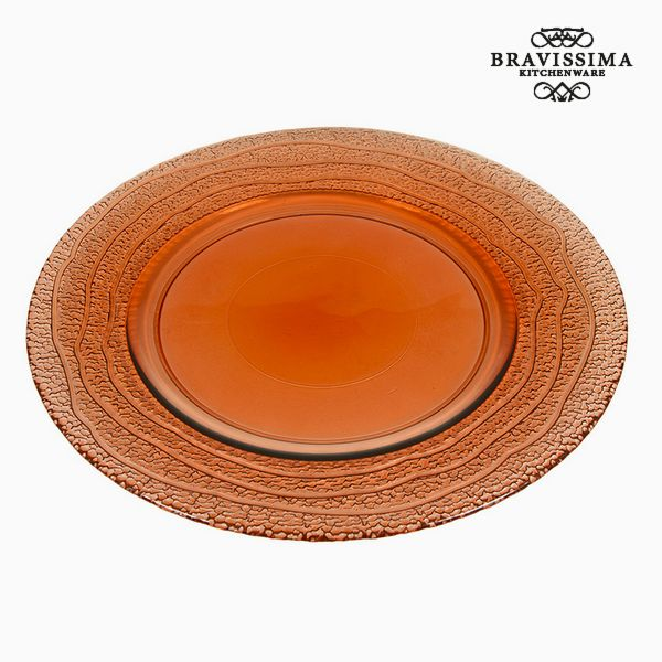 Recycled Glass Plate Coral (32 x 32 x 2  cm) by Bravissima Kitchen