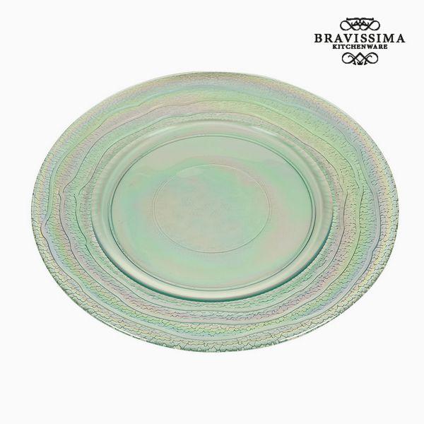 Recycled Glass Plate (32 x 32 x 2  cm) by Bravissima Kitchen