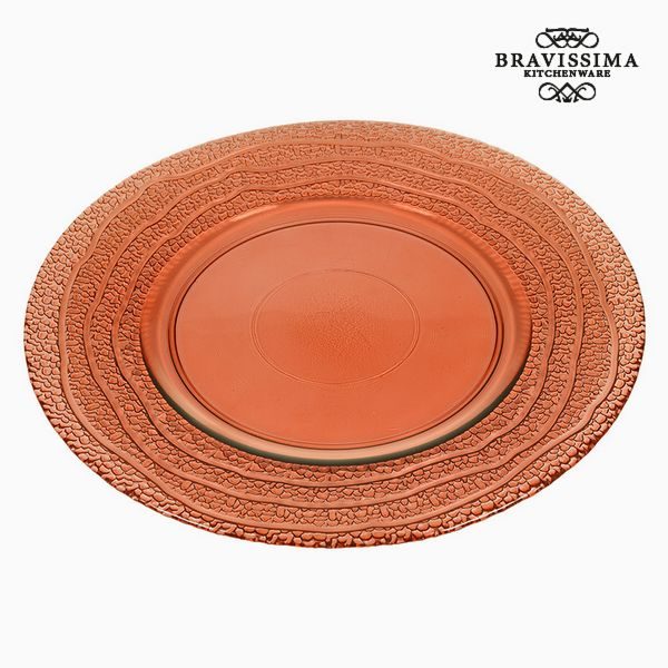 Recycled Glass Plate Coral (28 x 28 x 2  cm) by Bravissima Kitchen