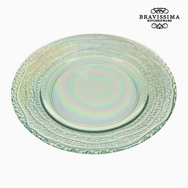 Recycled Glass Plate (28 x 28 x 2  cm) by Bravissima Kitchen