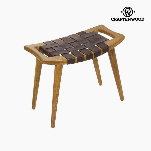 Bench Mindi wood Leather (60 x 35 x 45 cm) - Let's Deco Collection by Craftenwood