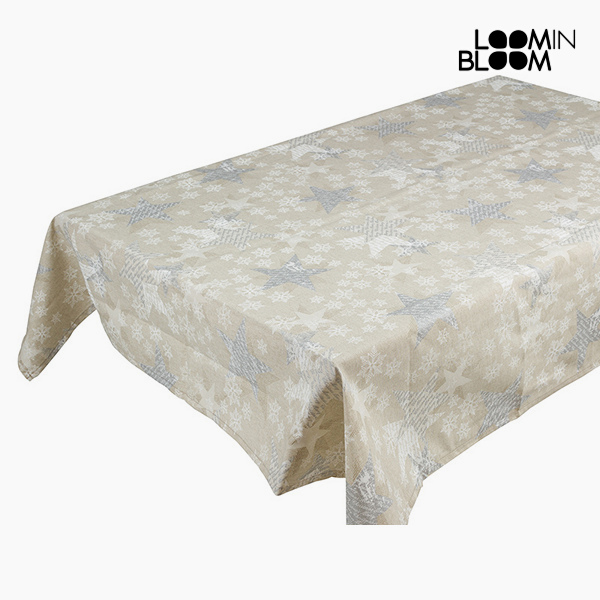 Tablecloth Christmas Silver (135 x 250 x 0,05 cm) by Loom In Bloom