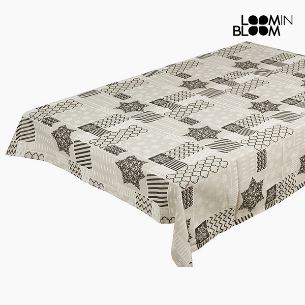 Tablecloth Grey (135 x 250 x 0,05 cm) by Loom In Bloom