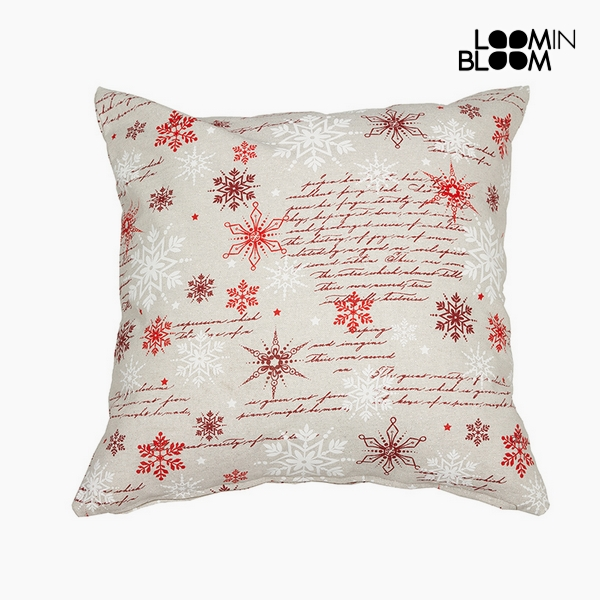 Cushion Cotton and polyester Red (45 x 45 x 10 cm) by Loom In Bloom