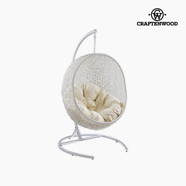 Hanging basket seat Synthetic rattan White (176 cm) by Craftenwood