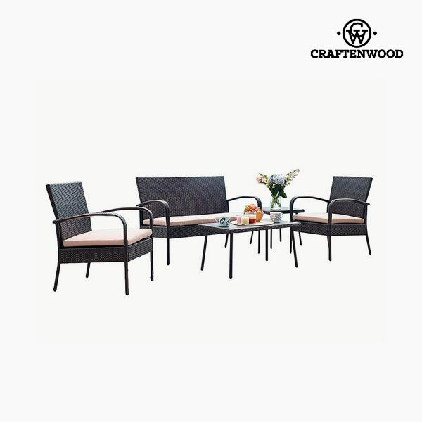 Sofa and table set (5 pcs) by Craftenwood