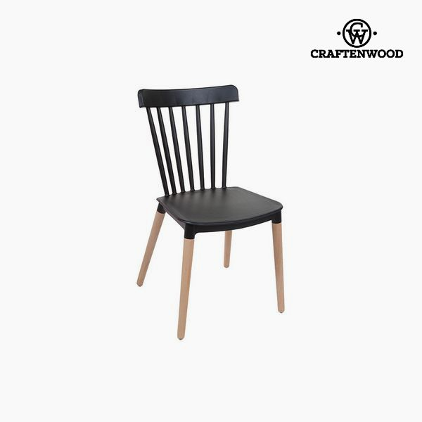 Chair Beech wood Black (52 x 46 x 84 cm) by Craftenwood