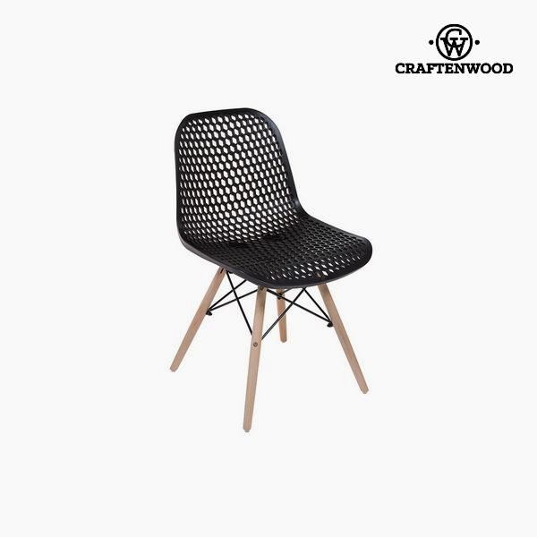 Chair Beech wood Black (55 x 46 x 78 cm) by Craftenwood