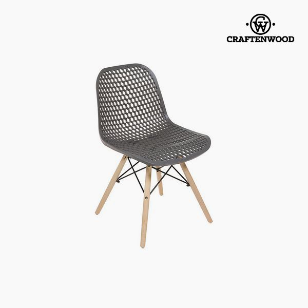 Chair Beech wood Grey (55 x 46 x 78 cm) by Craftenwood