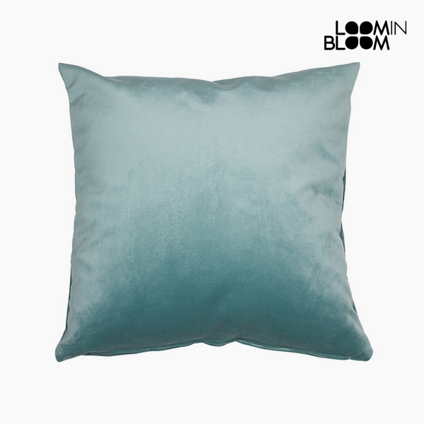 Cushion Polyester Green (45 x 45 x 10 cm) by Loom In Bloom