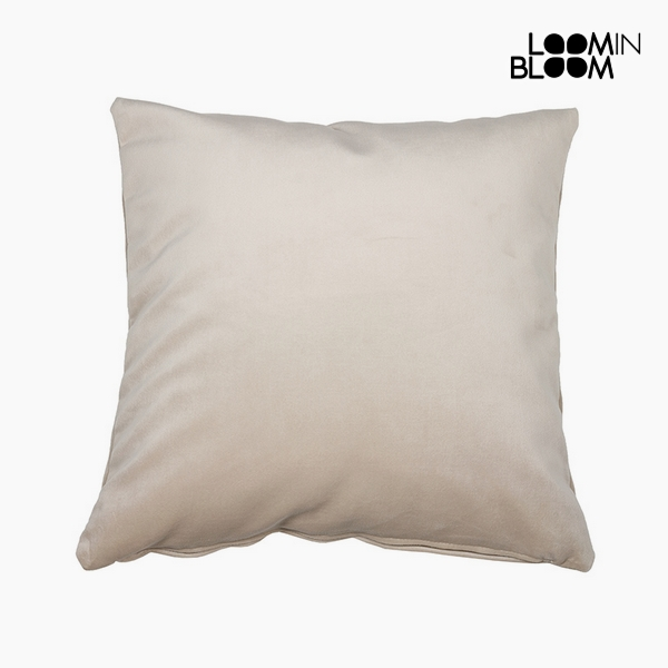Cushion Polyester Beige (45 x 45 x 10 cm) by Loom In Bloom