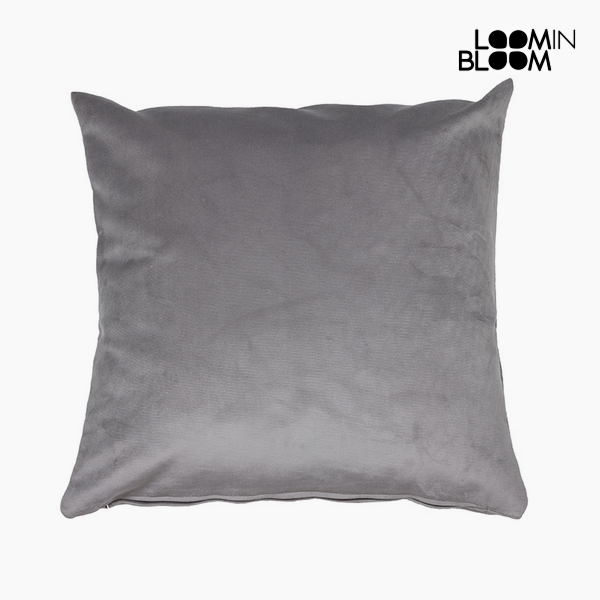 Cushion Polyester Grey (45 x 45 x 10 cm) by Loom In Bloom