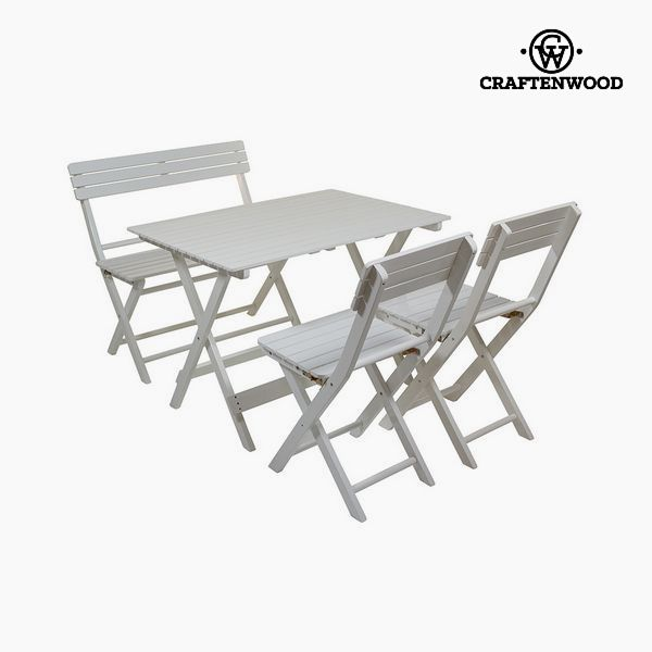 Table Set, Desk and 2 Chairs Aspen wood (4 pcs) by Craftenwood