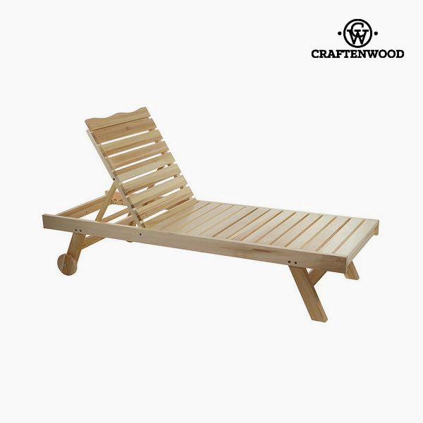 Sun-lounger Aspen wood (184 x 63 x 35 cm) by Craftenwood