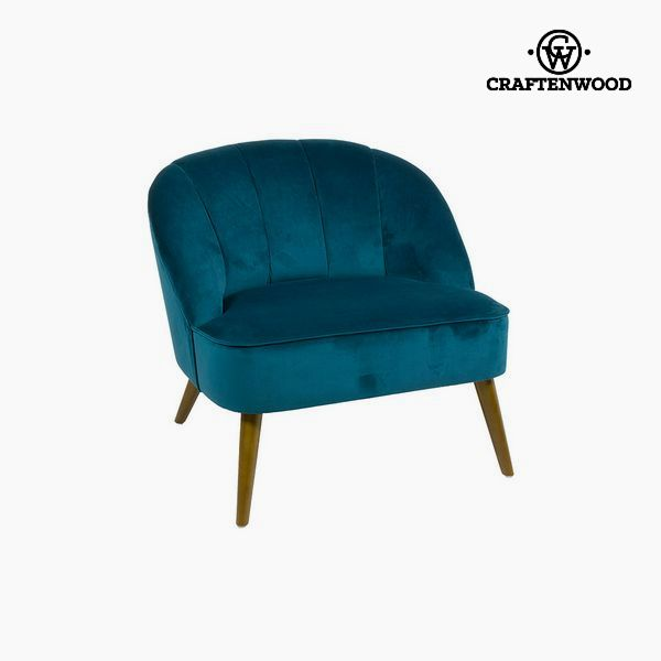 Armchair Blue (78 x 72 x 71 cm) by Craftenwood