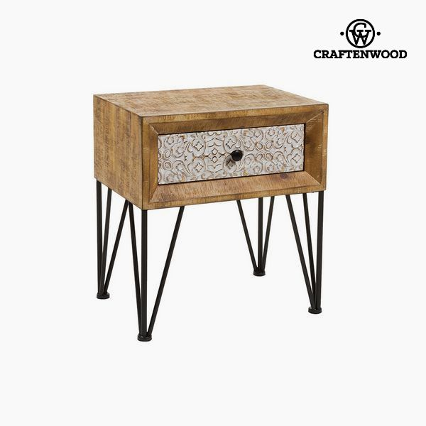 Nightstand Fir Mdf (51 x 46 x 33 cm) by Craftenwood