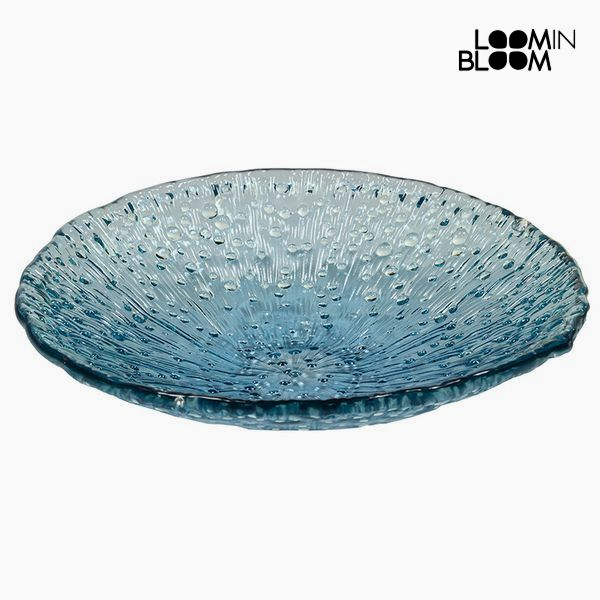 Recycled Glass Centerpiece Blue (42 x 42 x 11 cm) by Loom In Bloom