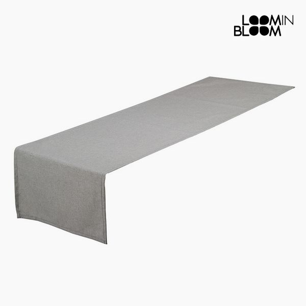 Table Runner Grey (40 x 13 x 0,5 cm) by Loom In Bloom