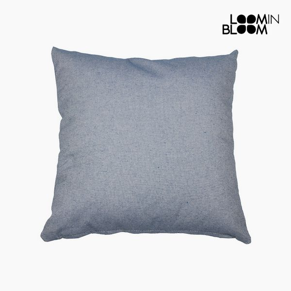 Cushion Cotton and polyester Blue (45 x 45 x 10 cm) by Loom In Bloom