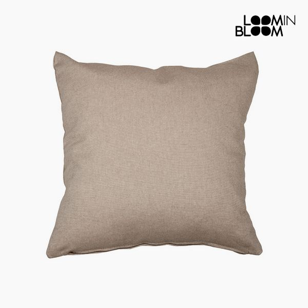 Cushion Cotton and polyester Brown (60 x 60 x 10 cm) by Loom In Bloom