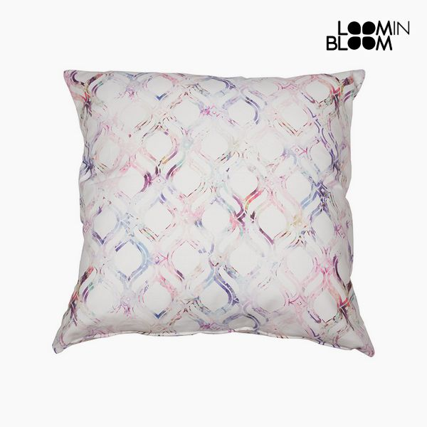 Cushion Cotton Pink (45 x 45 x 10 cm) by Loom In Bloom