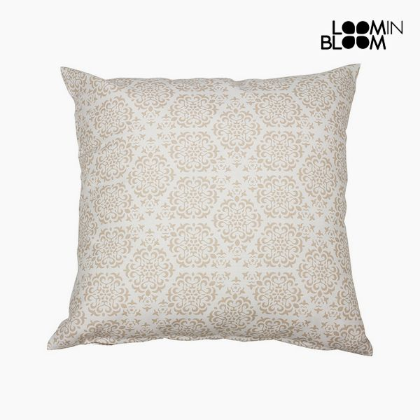 Cushion Cotton and polyester Beige (45 x 45 x 10 cm) by Loom In Bloom