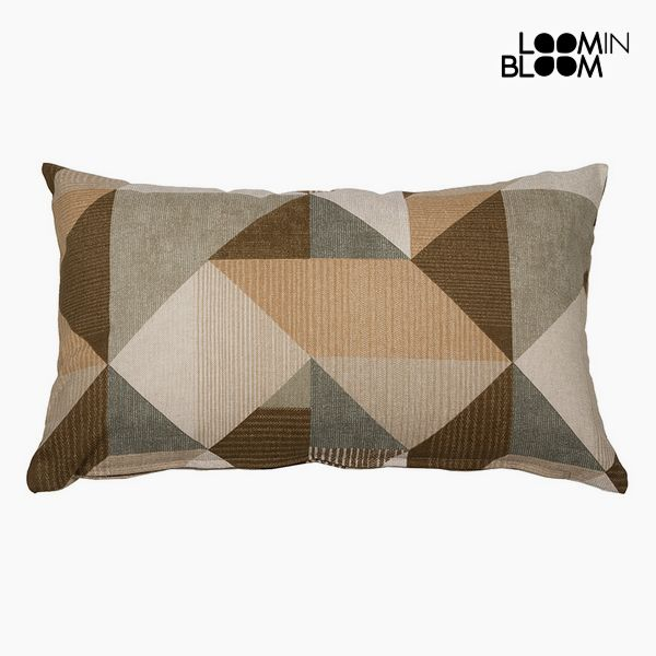 Cushion Cotton and polyester Beige (30 x 50 x 10 cm) by Loom In Bloom