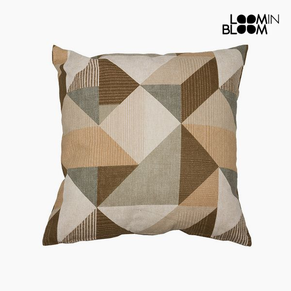 Cushion Cotton and polyester Beige (60 x 60 x 10 cm) by Loom In Bloom