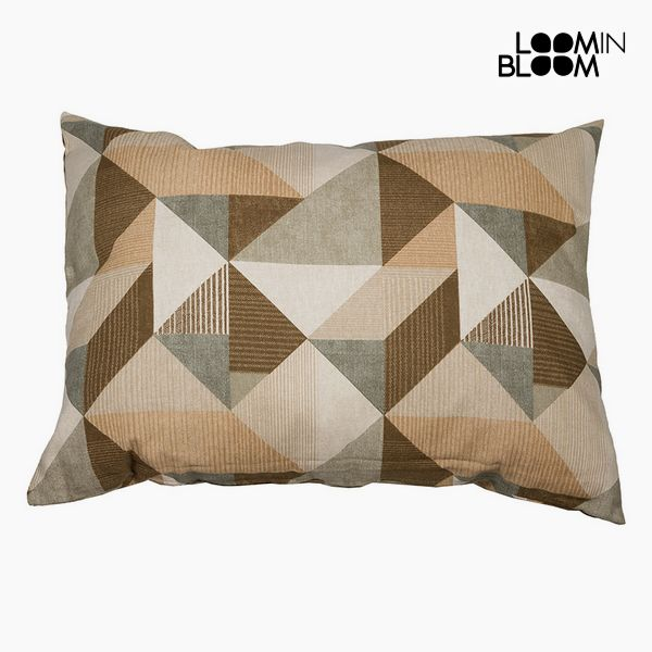 Cushion Cotton and polyester Beige (50 x 70 x 10 cm) by Loom In Bloom