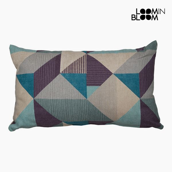 Cushion Cotton and polyester Blue (30 x 50 x 10 cm) by Loom In Bloom