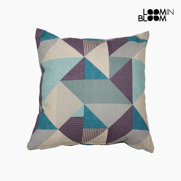 Cushion Cotton and polyester Blue (60 x 60 x 10 cm) by Loom In Bloom