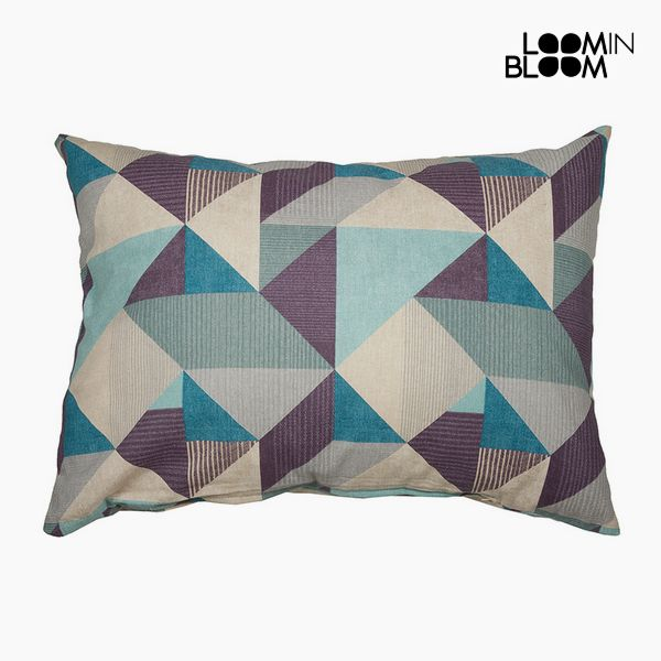 Cushion Cotton and polyester Blue (50 x 70 x 10 cm) by Loom In Bloom
