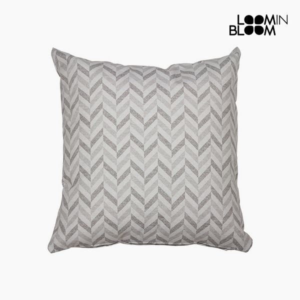 Cushion Cotton and polyester Grey (45 x 45 x 10 cm) by Loom In Bloom