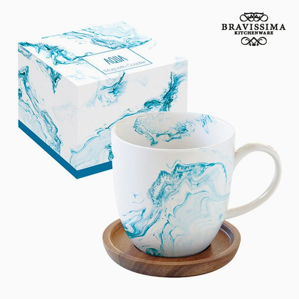 Cup with Plate Porcelain by Bravissima Kitchen