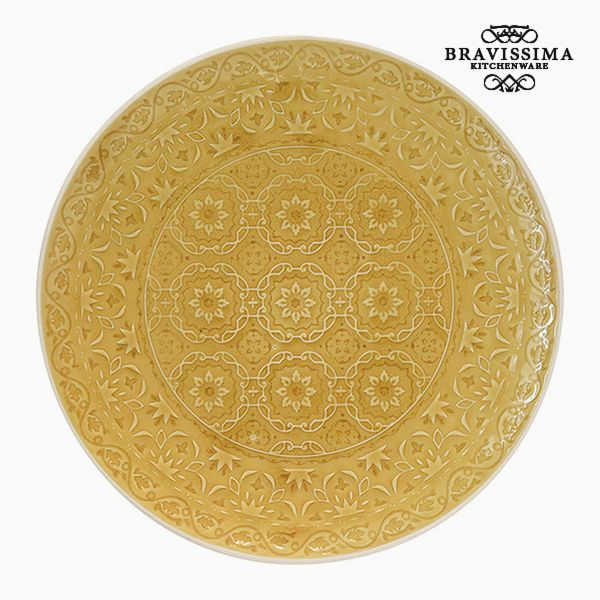 Flat plate Porcelain Yellow by Bravissima Kitchen