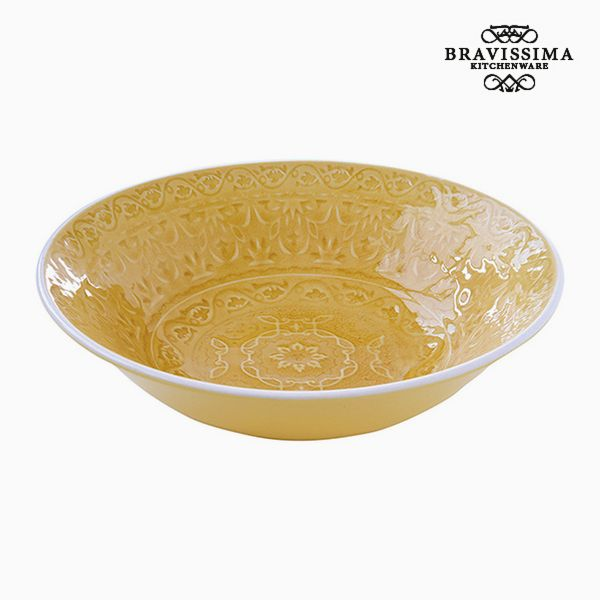 Deep Plate Porcelain Yellow by Bravissima Kitchen