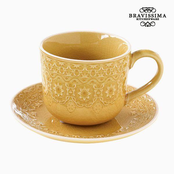 Teacup Porcelain Yellow by Bravissima Kitchen