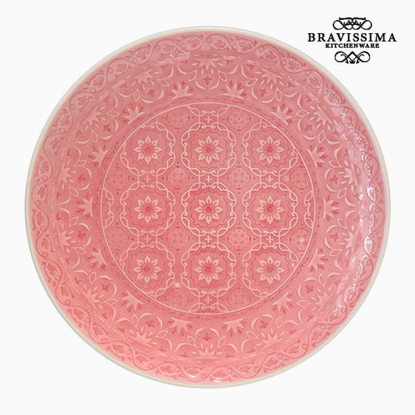 Flat plate Porcelain Coral by Bravissima Kitchen