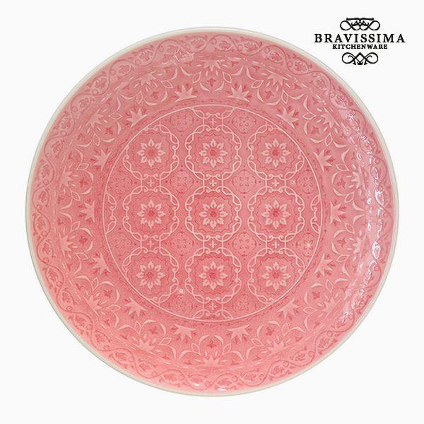 Flat plate Porcelain Coral by Bravissima Kitchen