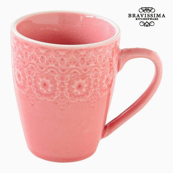 Cup Porcelain Coral by Bravissima Kitchen