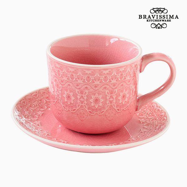 Teacup Porcelain Coral by Bravissima Kitchen