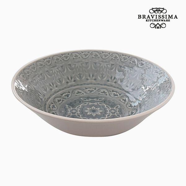 Deep Plate Porcelain Grey by Bravissima Kitchen