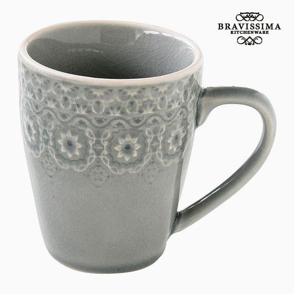 Cup Porcelain Grey by Bravissima Kitchen
