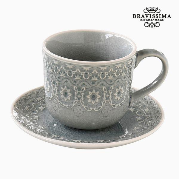 Teacup Porcelain Grey by Bravissima Kitchen