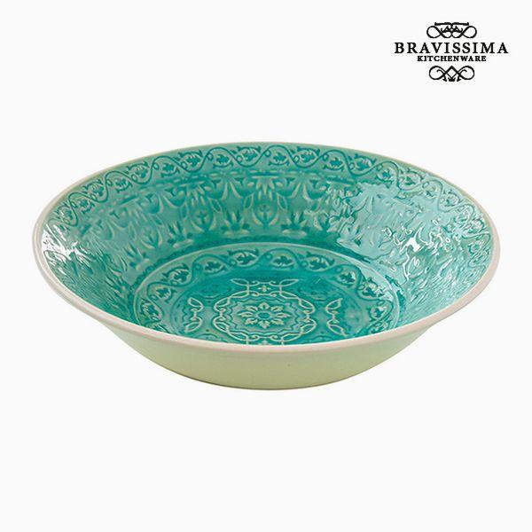 Deep Plate Porcelain Green by Bravissima Kitchen
